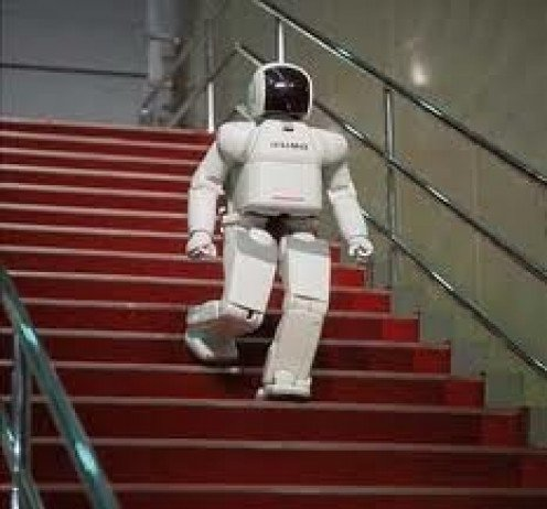 The Asimo Robot made by Honda can walk up and down stairs, kick a ball, dance, talk and prepare drinks and pour them.