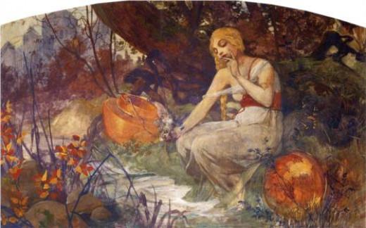 The Prophetess Alphonese Mucha, 1896