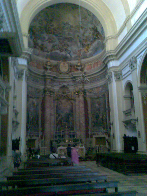 The inside of a  church in Prague