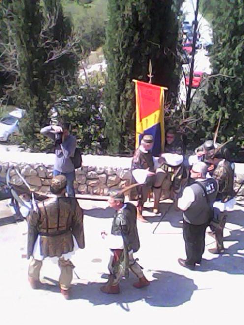 Men ready to shoot their arrows