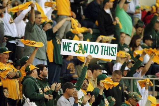 The Oakland fans would love to see their team play in October again.