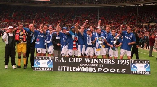 Everton's last big trophy was The FA Cup in 1995