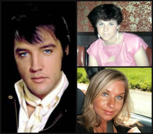This is a photo of Elvis and myself and my daughter sasha