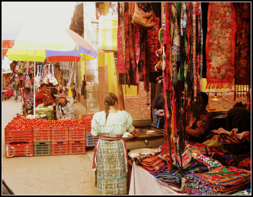 Chichicastenango markets. The biggest and best markets in Guatemala.