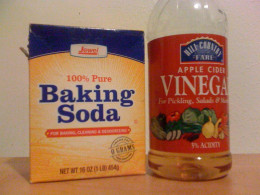 Adding baking soda to apple cider vinegar rinse makes hair shiny and healthy