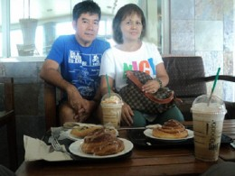 Breakfast at the Upper Floor of Starbucks Tagaytay