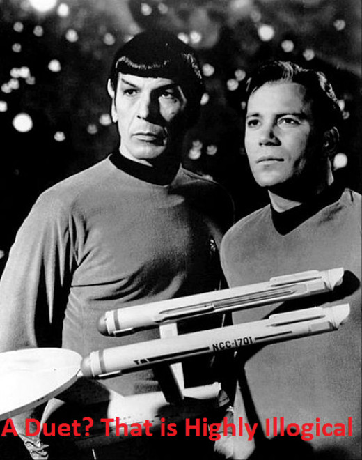 Sadly William Shatner and Leonard Nimoy never recorded an album of duets.
