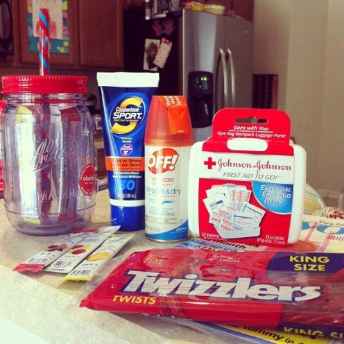 Summer Survival Kit as an end of the year teacher gift.