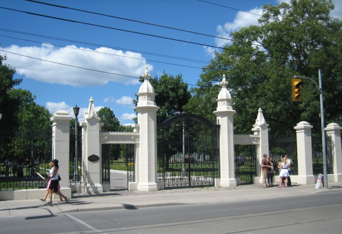 Gates at the entrance to w:Trinity Bellwoods Park, Toronto
