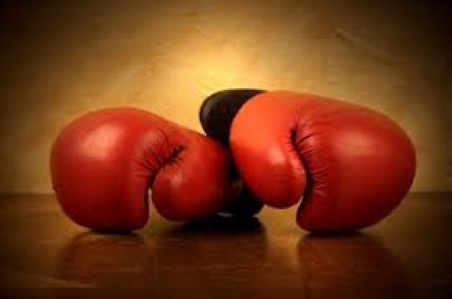 Boxing gloves are required for professional boxing. The three sizes are 8 oz., 10 oz. and 12 oz. Gloves were invented to protect the hands from being broken.