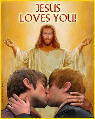 The all accepting Jesus loves you just the way you are.