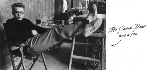 James Dean Wearing Converse