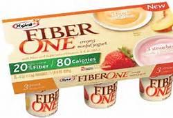 Added fiber in yogurt is a good example of synthetic fiber.  Yogurt is an animal protein, which does not naturally contain fiber.