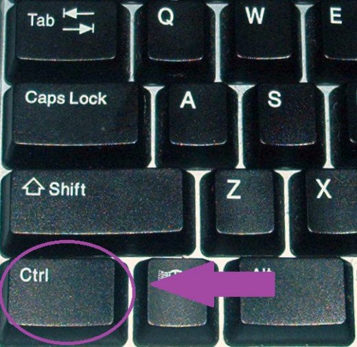 Find the control key on your keyboard.  You will need this to make a screen shot.