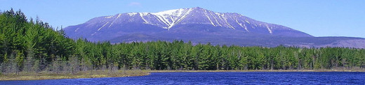 Mount Katahdin, the highest peak in Maine, the centerpiece of Baxter State Park, and the Northern Terminus of the Appalachian Trail.