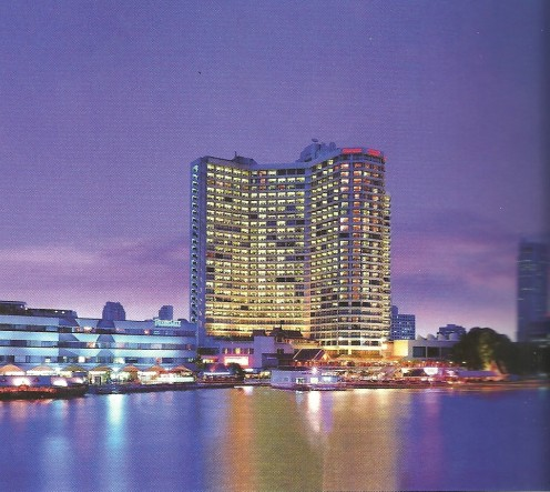 The Royal Orchid Sheraton Hotel & Towers Overlooks the Chao Phya River.