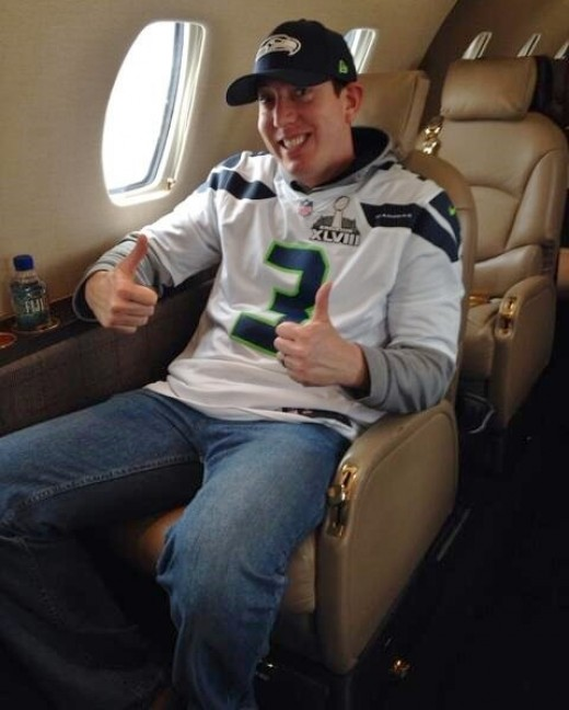 A Super Bowl bet cost Busch a weekend in a Seahawks jersey, but yet another win at Bristol will send him to NASCAR's playoffs with a smile