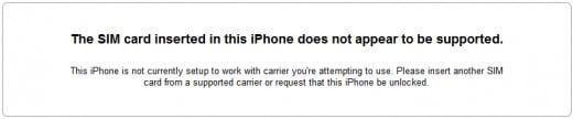 A notice that an iPhone is not activated