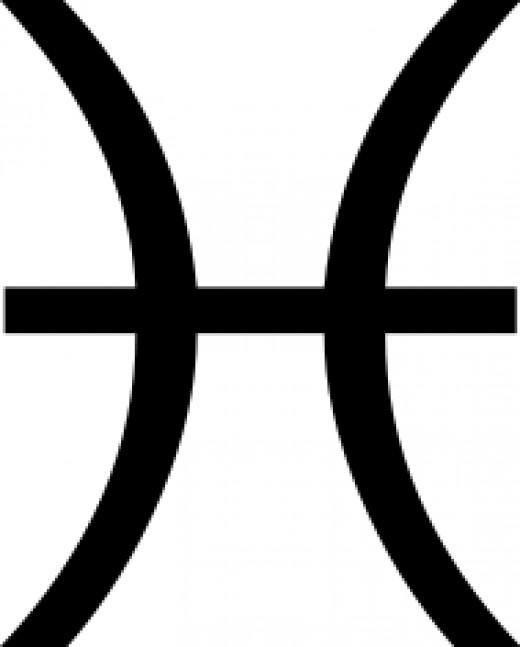 Pisces zodiac sign glyph symbol