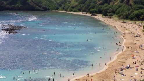 Lookng down on Hanauma Bay, Oahu (January 2014)