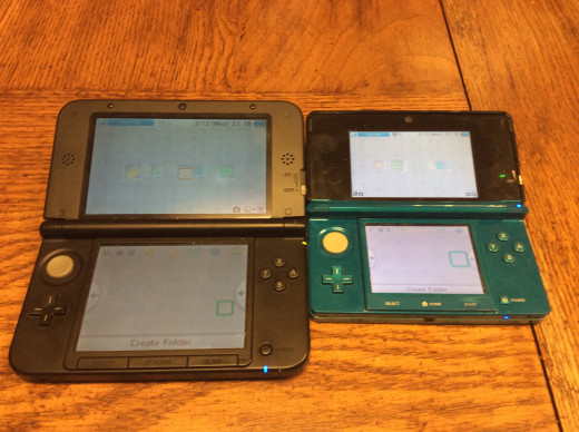 The 3ds screens. The XL screen is bigger, but a bit more pixalated