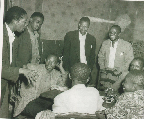 Literary Group Writer Can Themba holds court in a Sophiatown shebeen.  The House of Truth.  Themba joined ''Drum'' magazine after winning a short-story competition run by the magazine.
