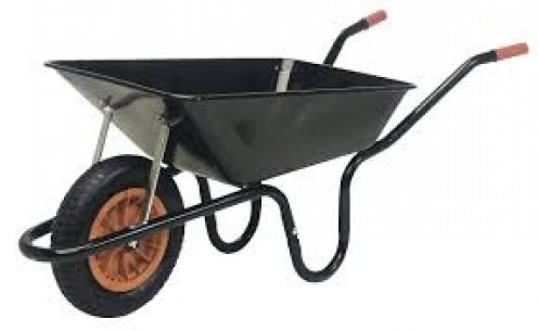 A wheelbarrow can perform many functions including transferring veggies or dirt from one place to another.