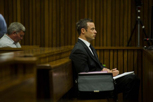 Pistorius, accussed of premeditated murder