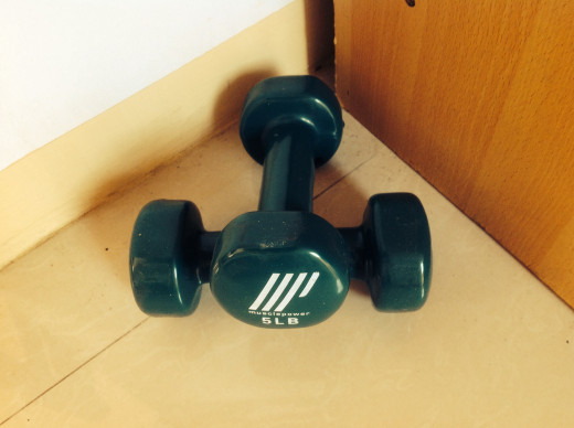 Dumbbells come in handy at home for a 5-10 minute weight lifting exercises. | Chelle (silkwormy)