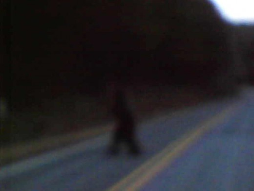 On Tuesday March 22 , 2011 I saw a Bigfoot or Sasquatch cross the road on Golden Valley Church Road in North Carolina. It was a real creature and not a man in a costume.