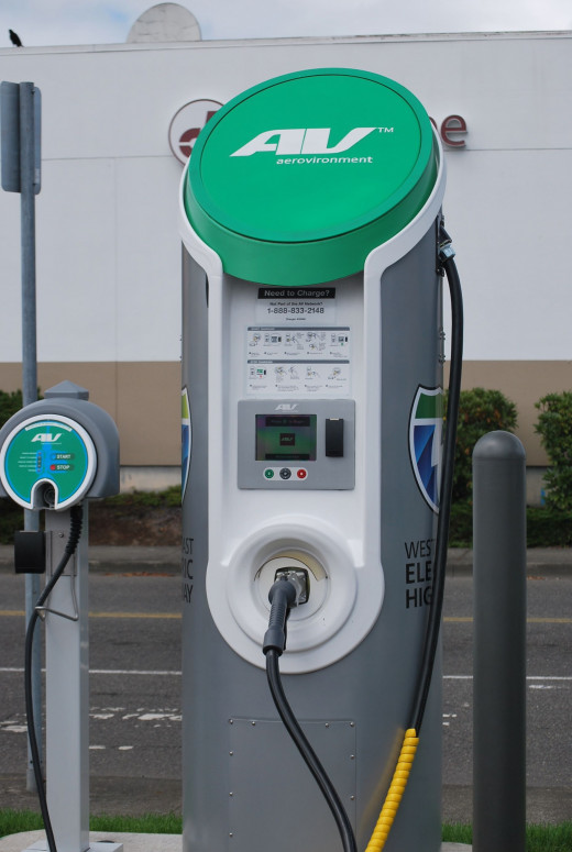 Rapid Electric Vehicle Charging Station along Interstate-5 (Washington-California) in the U.S.