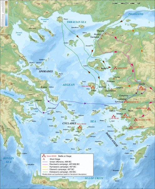 Map of the Ionian Revolt