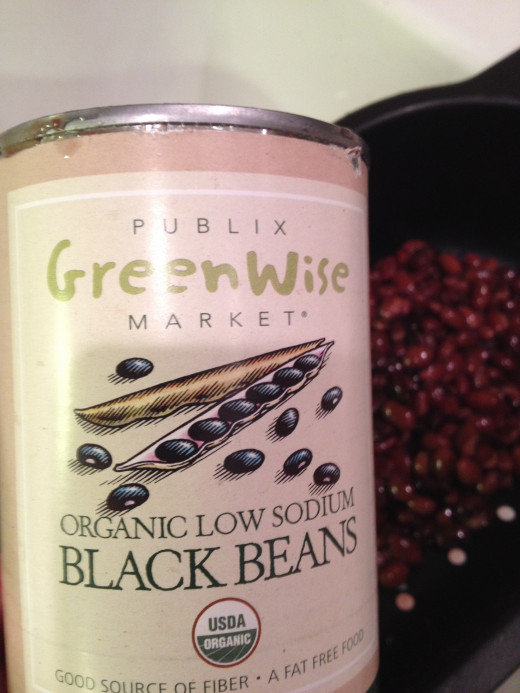 Use low-sodium, organic beans, if possible.  Rinse and drain them before adding to the other ingredients.
