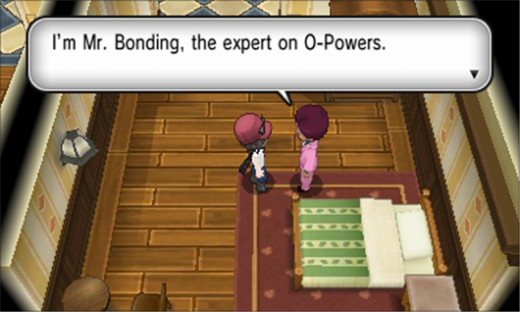Mr. Bonding, the semi creepy man that hands over the O-Powers.