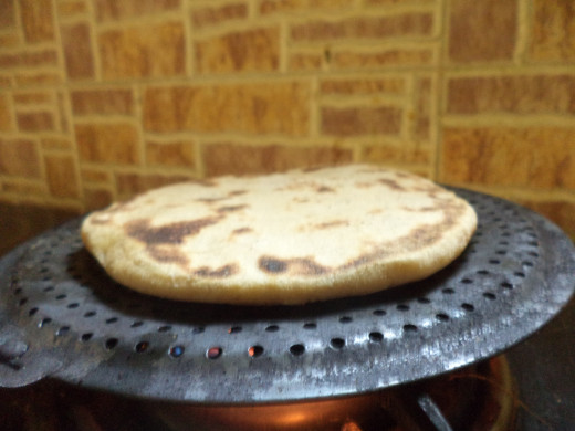 Baking Honey Naan on the Griddle-Watch it Rise!