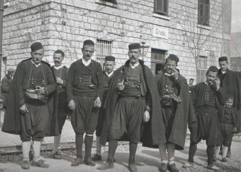 Croatian Men dressed tradionally