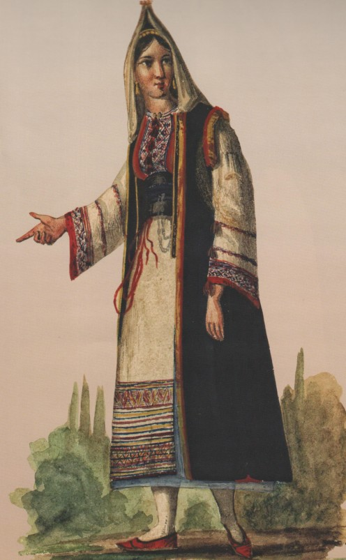 A traditionally dressed woman