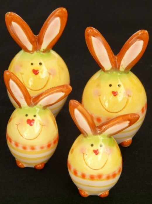 Figs decorated as a bunny and covered with icing