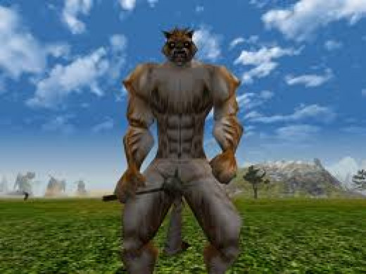 picture of a werewolf from knight online