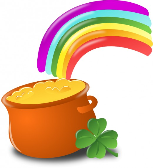 A Pot Of Gold At The End Of The Rainbow. I wish there really was a pot of gold at the end of every rainbow, I'd be rich.