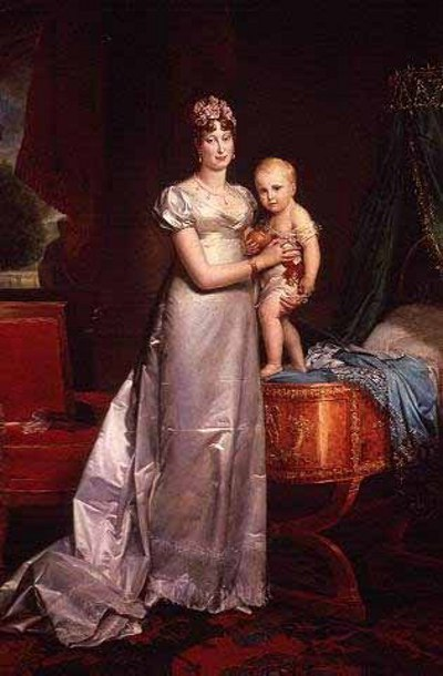 Portrait of Marie Lousie and her son.