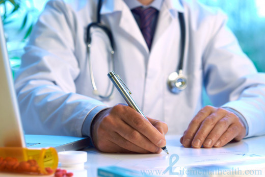 After proper assessment the doctor writes a prescription for pain medication based on the patient's need for a drug.
