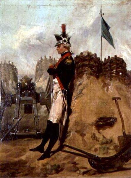 Alexander Hamilton in Colonial military uniform