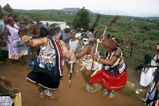 Sangoma's dancing.