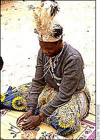 A Sangoma woman channeling the spirits.