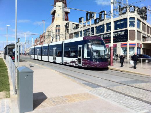 Modern Blackpool Tram