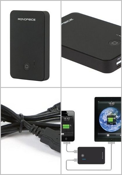 External Battery Pack with Charger for iPad/iPhone/iPod