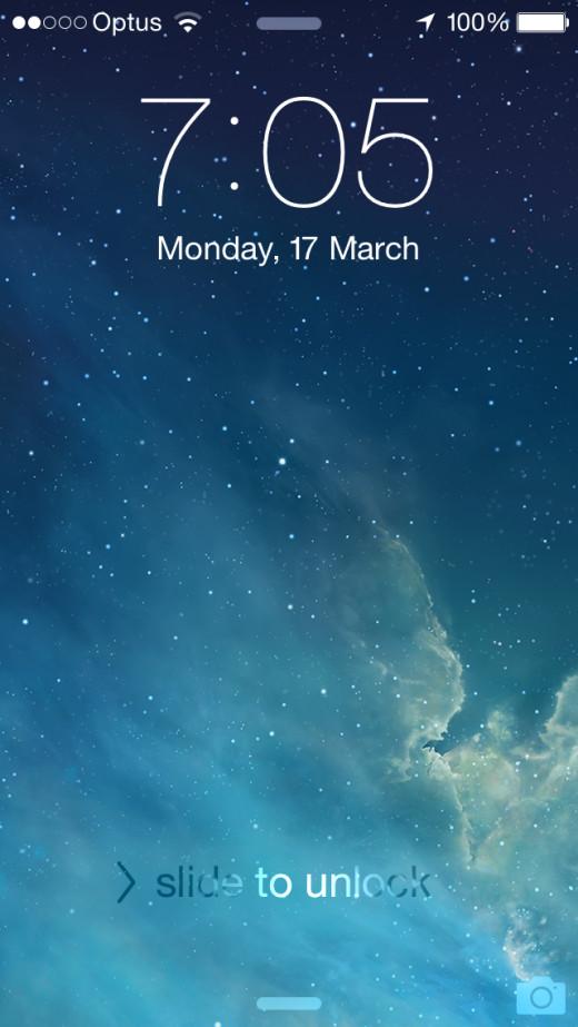 Apple iOS 7 on the Apple iPhone