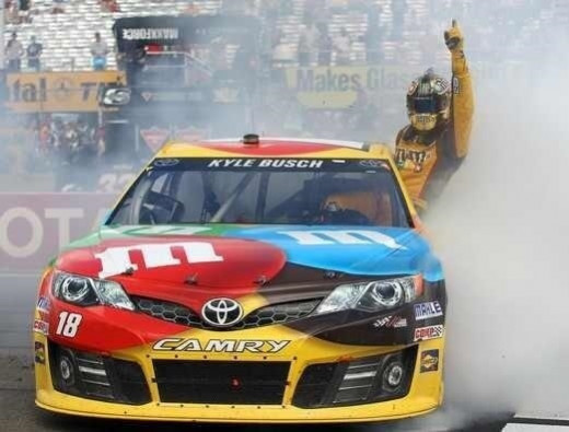 Kyle Busch is the defending race champion at two of the next three tracks on the schedule