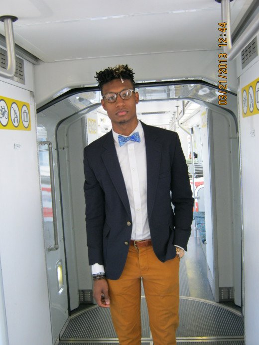 Quentin Thrash on the Expo Line in Los Angeles